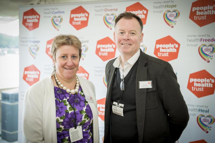 Christine Abraham and Jon Eaton of Community Action Suffolk