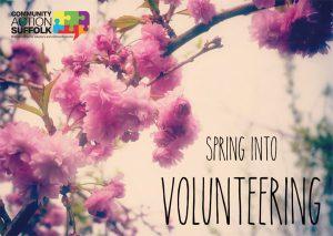 Spring Into Volunteering artwork