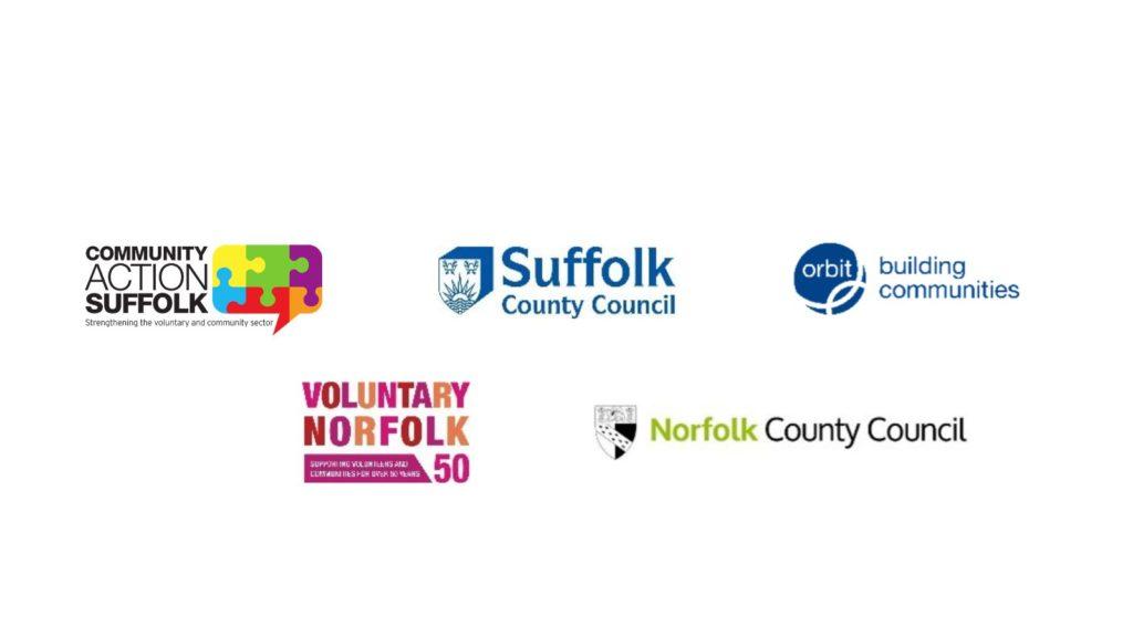 CAS logo, SCC logo, Orbit logo, Voluntary Norfolk logo and Norfolk CC logo